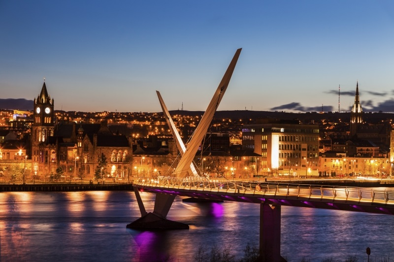 Derry/Londonderry at night